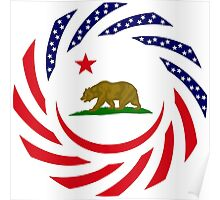 Californian Murican Patriot Flag Series Poster