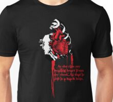 LOVE HURTS...from the guys point of view. Unisex T-Shirt