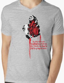 LOVE HURTS...from the guys point of view. Mens V-Neck T-Shirt