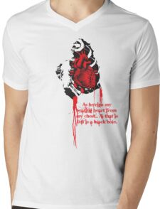 LOVE HURTS...from the womens point of view. Mens V-Neck T-Shirt