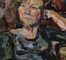 Portrait of Annie in oils by matthewIaldous