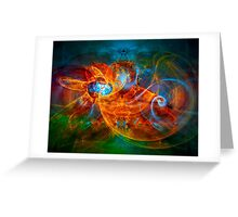 First Flight - colorful digital abstract art by Gordan P. Junior Greeting Card