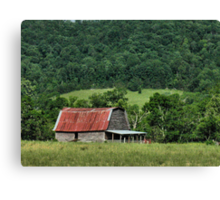Farmer's Version of the Red Roof Inn Canvas Print