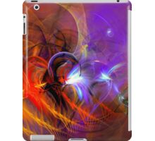 Feather in the wind - colorful digital abstract art by Gordan P. Junior iPad Case/Skin