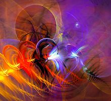 Feather in the wind - colorful digital abstract art by Gordan P. Junior by gp-art