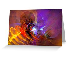 Feather in the wind - colorful digital abstract art by Gordan P. Junior Greeting Card
