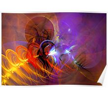 Feather in the wind - colorful digital abstract art by Gordan P. Junior Poster