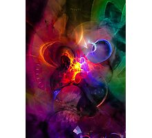 Explorers - colorful digital abstract art by Gordan P. Junior Photographic Print