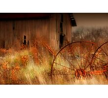 """"""" Silence is Rusty Conversation """" Photographic Print"""