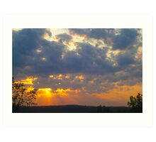 Sunset Skyscape Art Print