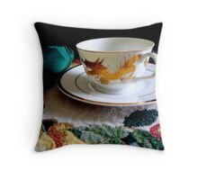 Tea Time for One   ^ Throw Pillow
