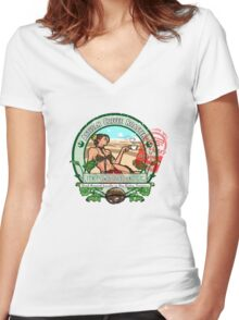 The Java Hutt Women's Fitted V-Neck T-Shirt