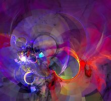 Friday Night - colorful digital abstract art by Gordan P. Junior by gp-art
