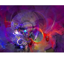 Friday Night - colorful digital abstract art by Gordan P. Junior Photographic Print