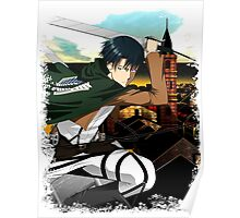 Levi Attack on Titan Shingeki No Kyojin Shirt Poster