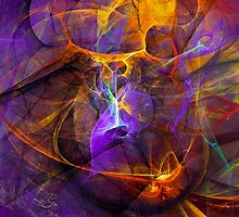 Inspiration - colorful digital abstract art by Gordan P. Junior by gp-art