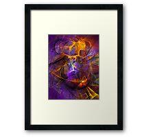 Inspiration - colorful digital abstract art by Gordan P. Junior Framed Print