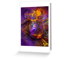 Inspiration - colorful digital abstract art by Gordan P. Junior Greeting Card