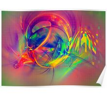 1985 - colorful digital abstract art by Gordan P. Junior Poster