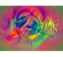1985 - colorful digital abstract art by Gordan P. Junior Photographic Print