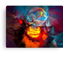 Wizard of Oz - colorful digital abstract art by Gordan P. Junior Canvas Print