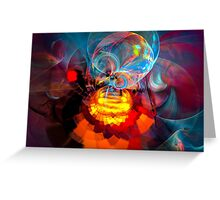Wizard of Oz - colorful digital abstract art by Gordan P. Junior Greeting Card