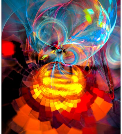 Wizard of Oz - colorful digital abstract art by Gordan P. Junior Sticker