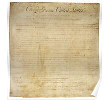 The Bill of Rights - First Ten Ammendments to the Constitution of the United States Poster