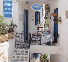 Cafe on Paros, Greece by Ben Breen