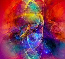 Gladiator - colorful digital abstract art by Gordan P. Junior by gp-art