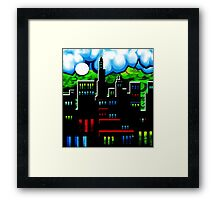 IntenseCity: Red Roofs LED Framed Print