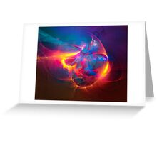 Miracle - colorful digital abstract art by Gordan P. Junior Greeting Card