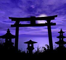 Abandoned Gate at Sea by Okeesworld