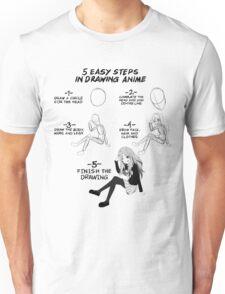 5 Easy Steps to draw anime T-shirt Unisex T-Shirt