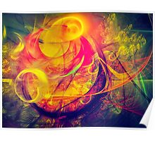 Gondolier - colorful digital abstract art by Gordan P. Junior Poster