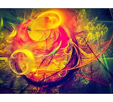 Gondolier - colorful digital abstract art by Gordan P. Junior Photographic Print