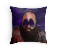 Crazy Scary Bum Throw Pillow