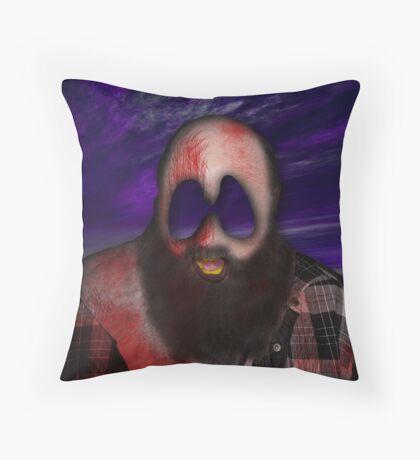 Crazy Scary Bum Throw Pillow