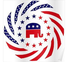 Republican Murican Patriot Flag Series Poster