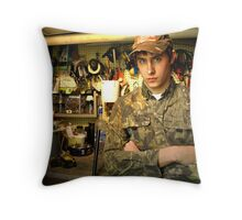 In the Shop Throw Pillow
