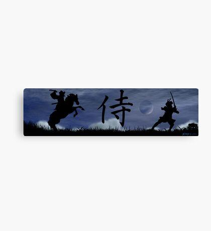 Dueling Samurai Canvas Print