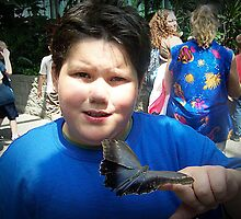 Michael At The Butterfly Exhibit by Jonice