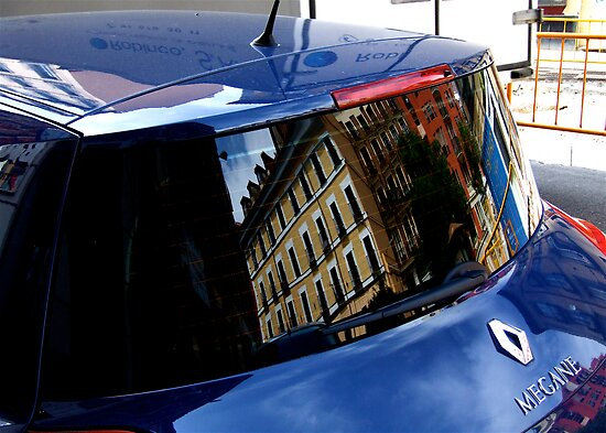 A CAR REFLECTED by Scott  d'Almeida