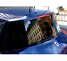 A CAR REFLECTED Photographic Print