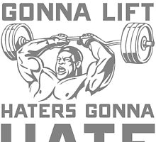 lifters gonna lift haters gonna hate by teeshoppy