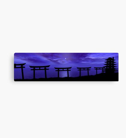 Path to the Forgotten Temple Canvas Print
