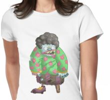 grandma got turned into a zombie... Womens Fitted T-Shirt
