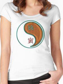 Aquarius & Tiger Yang Wood Women's Fitted Scoop T-Shirt