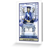 Ruler of Swords Greeting Card