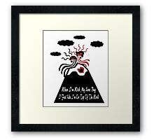 When I'm With My Love Bug Framed Print